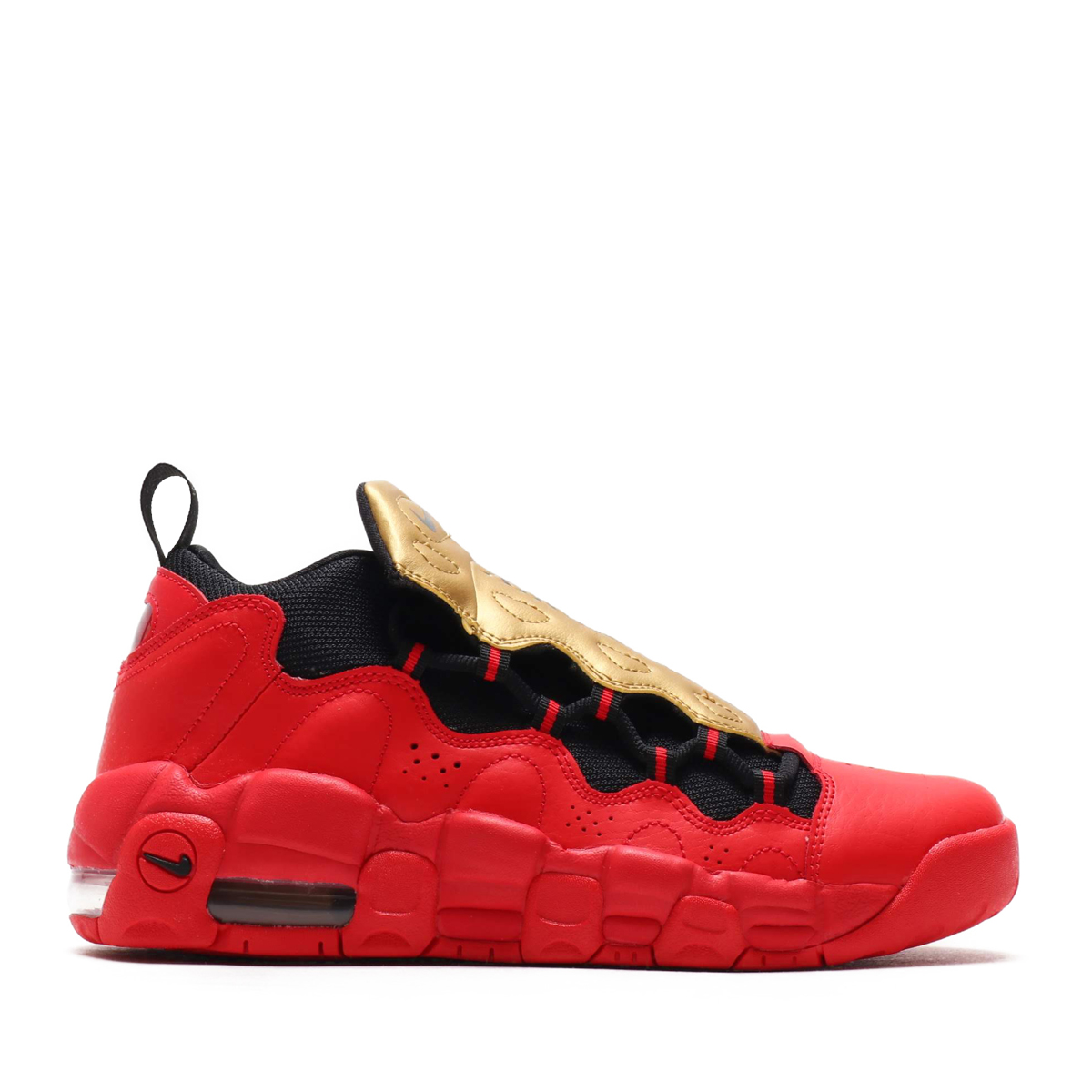 b01cef20951 NIKE AIR MORE MONEY (GS) (Nike air more money GS) (UNIVERSITY RED BLACK-METALLIC  GOLD) 18SU-S