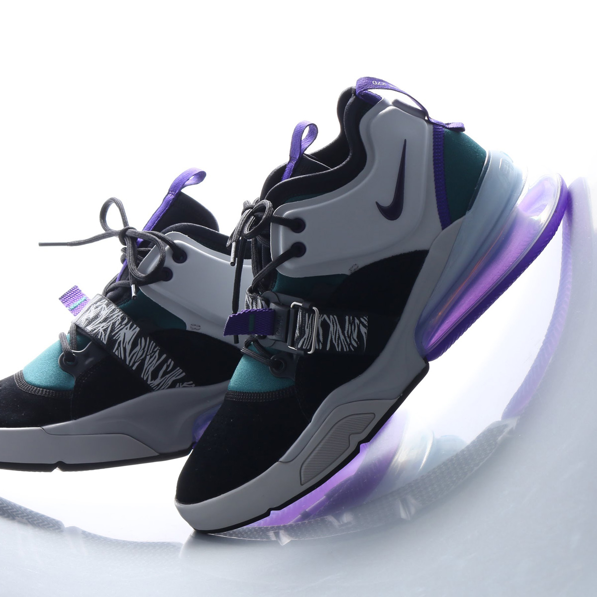 451e83708b2dad atmos pink  NIKE AIR FORCE 270 (Nike air force 270) BLACK COURT PURPLE-DK  ATOMIC TEAL 18SU-S