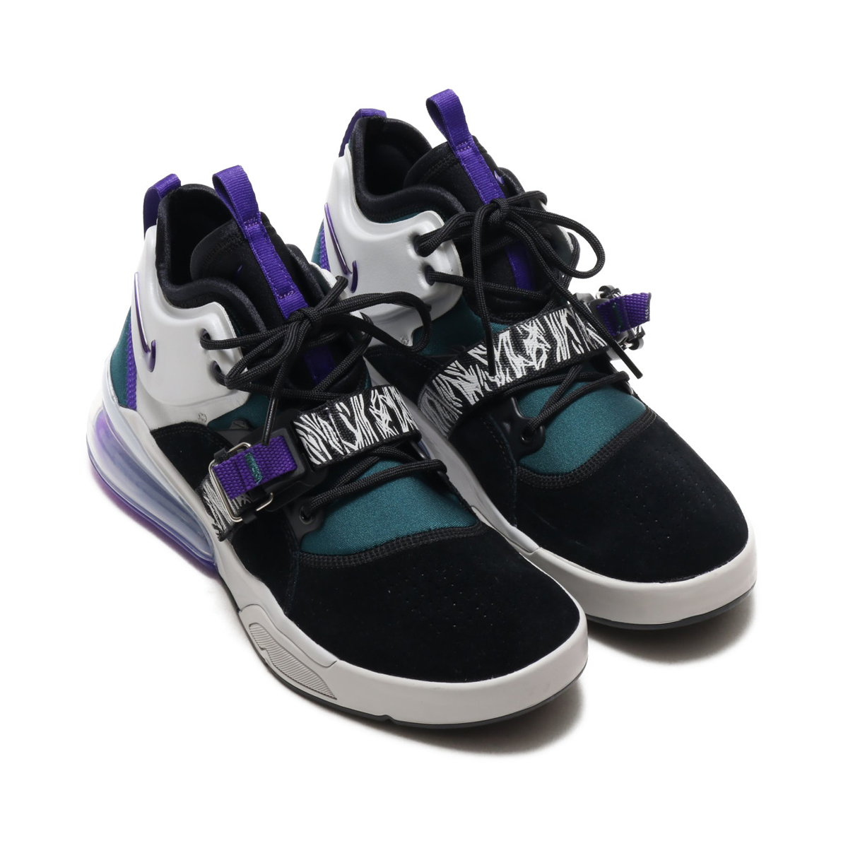 c8a1d439765f NIKE AIR FORCE 270 (Nike air force 270) BLACK COURT PURPLE-DK ATOMIC TEAL  18SU-S