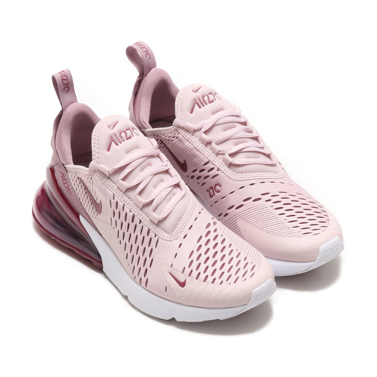 NIKE W AIR MAX 270 (Nike women Air Max 270) (BARELY ROSE/VINTAGE WINE-ELEMENTAL ROSE) 18SU-S