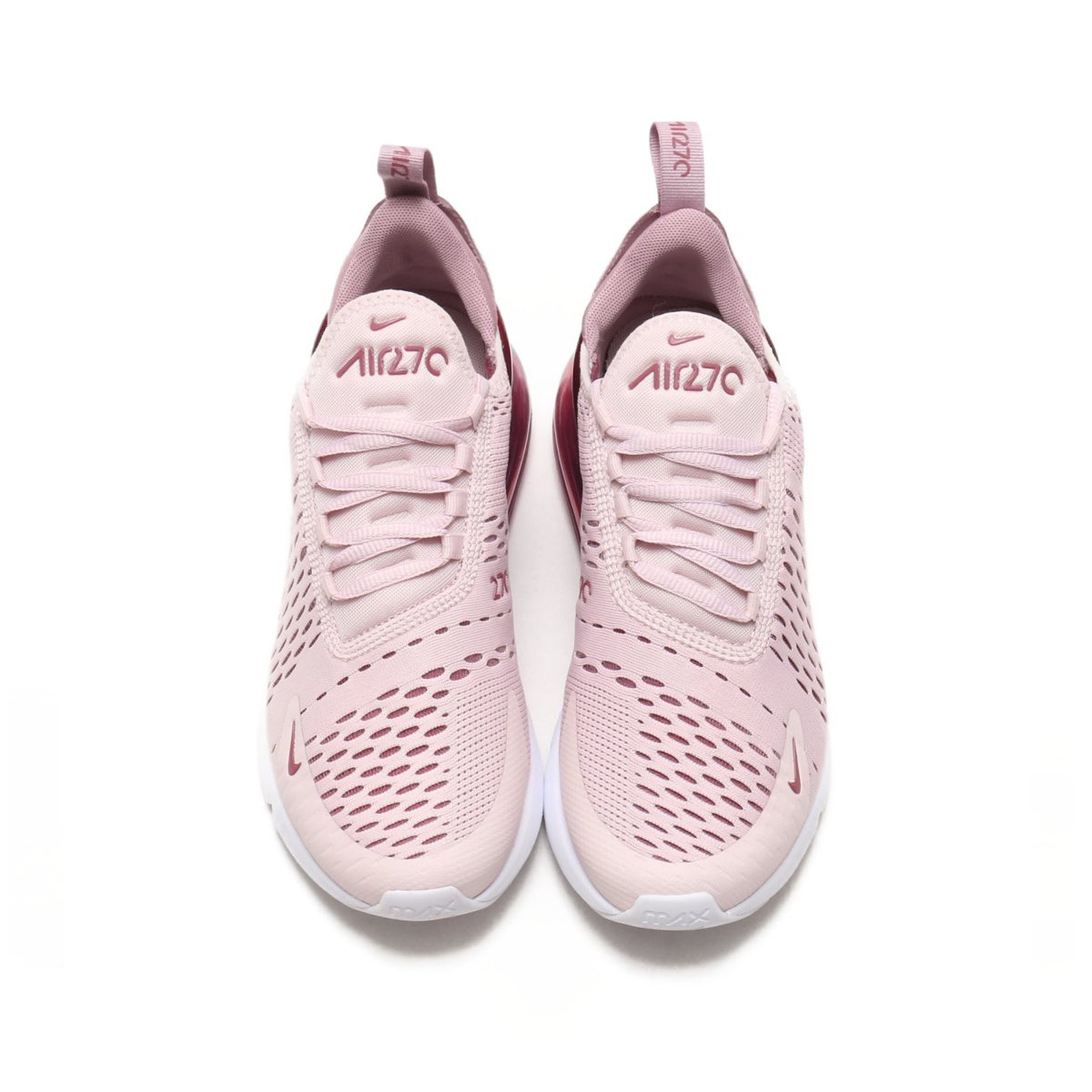 NIKE W AIR MAX 270 (Nike women Air Max 270) (BARELY ROSE VINTAGE  WINE-ELEMENTAL ROSE) 18SU-S 36c57affb8