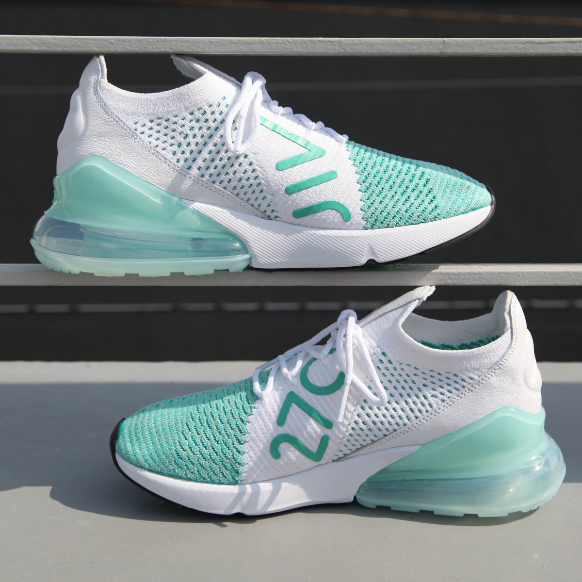 0e059004f5371 atmos pink: NIKE W AIR MAX 270 FLYKNIT (Nike women Air Max 270 fried ...