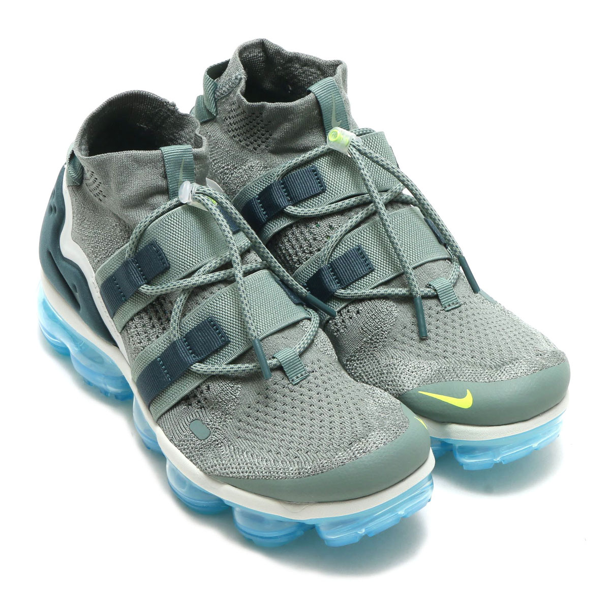 the latest 5f4c1 cf8b7 ★SALE ★ NIKE AIR VAPORMAX FK UTILITY (Nike air vapor max fried food knit  utility) CLAY GREEN/FADED SPRUCE-BARELY GREY 18SU-S