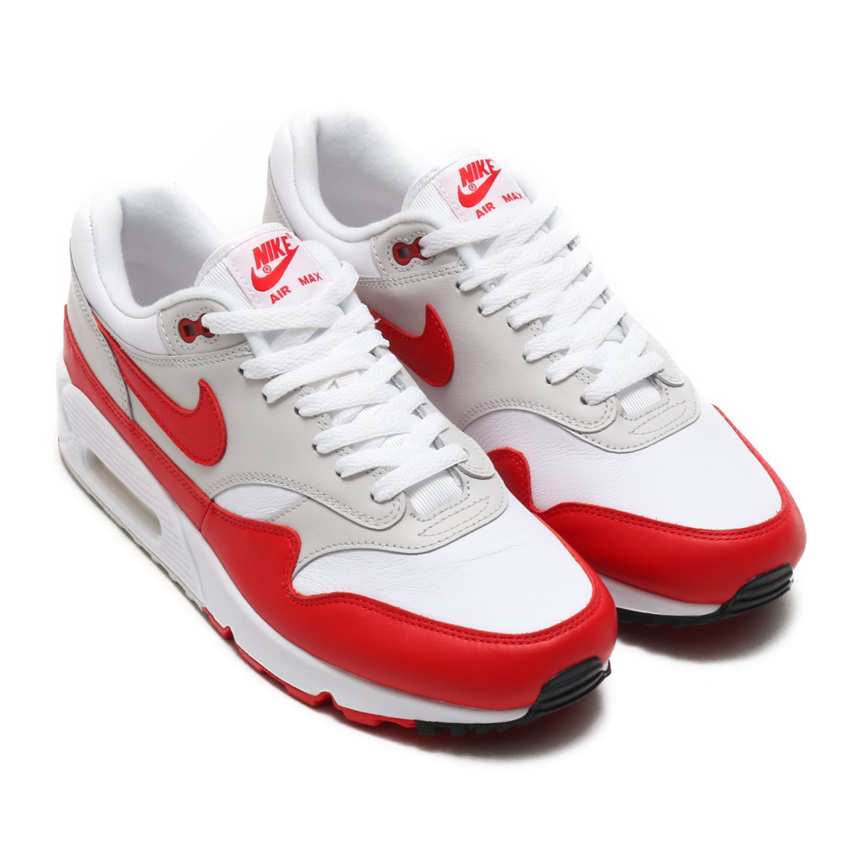 NIKE AIR MAX 90/1 (ナイキ エア マックス 90 1) (WHITE/UNIVERSITY RED-NEUTRAL GREY-BLACK)