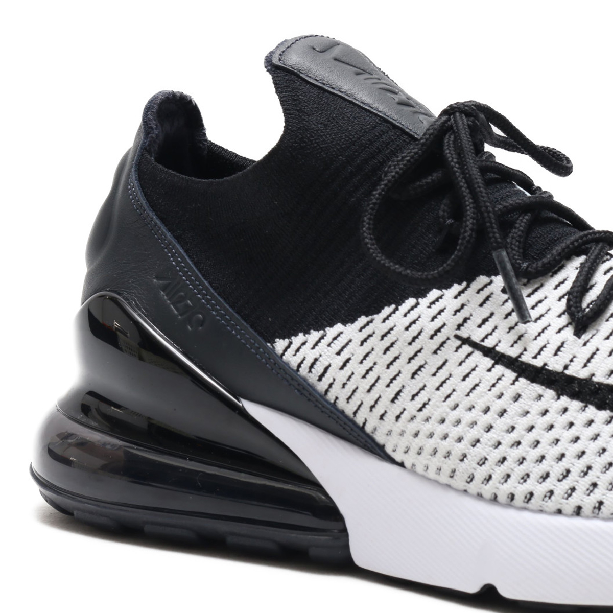 1ad8da12e7cc7 NIKE AIR MAX 270 FLYKNIT (Kie Ney AMAX 270 fried food knit) (WHITE BLACK- ANTHRACITE) 18SU-S