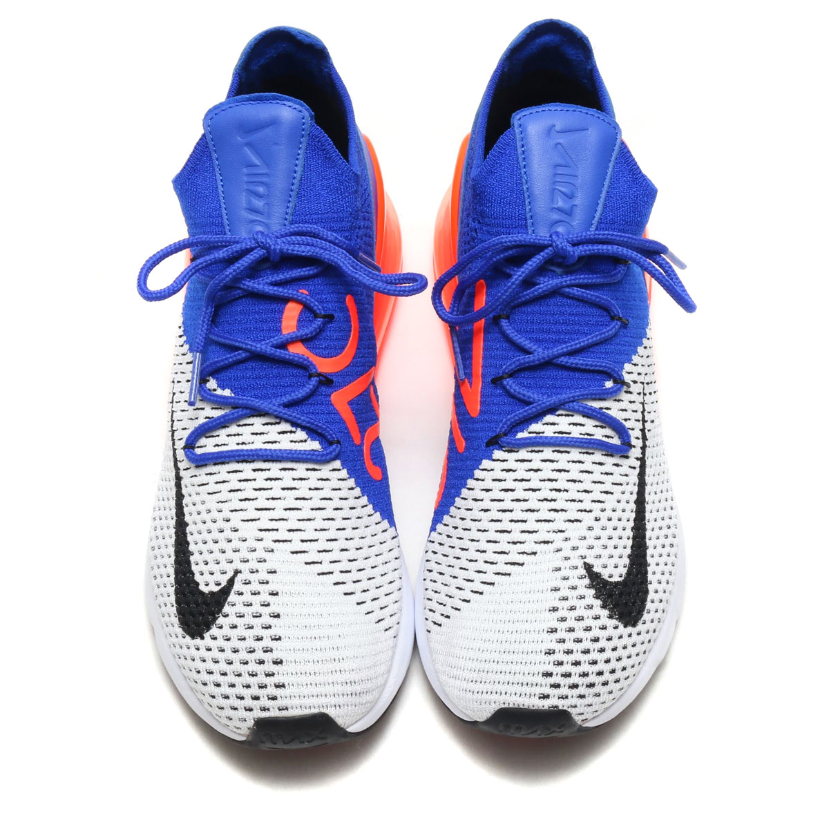 105ea1824675 NIKE AIR MAX 270 FLYKNIT (Kie Ney AMAX 270 fried food knit) (WHITE BLACK-RACER  BLUE-TOTAL CRIMSON) 18SP-S