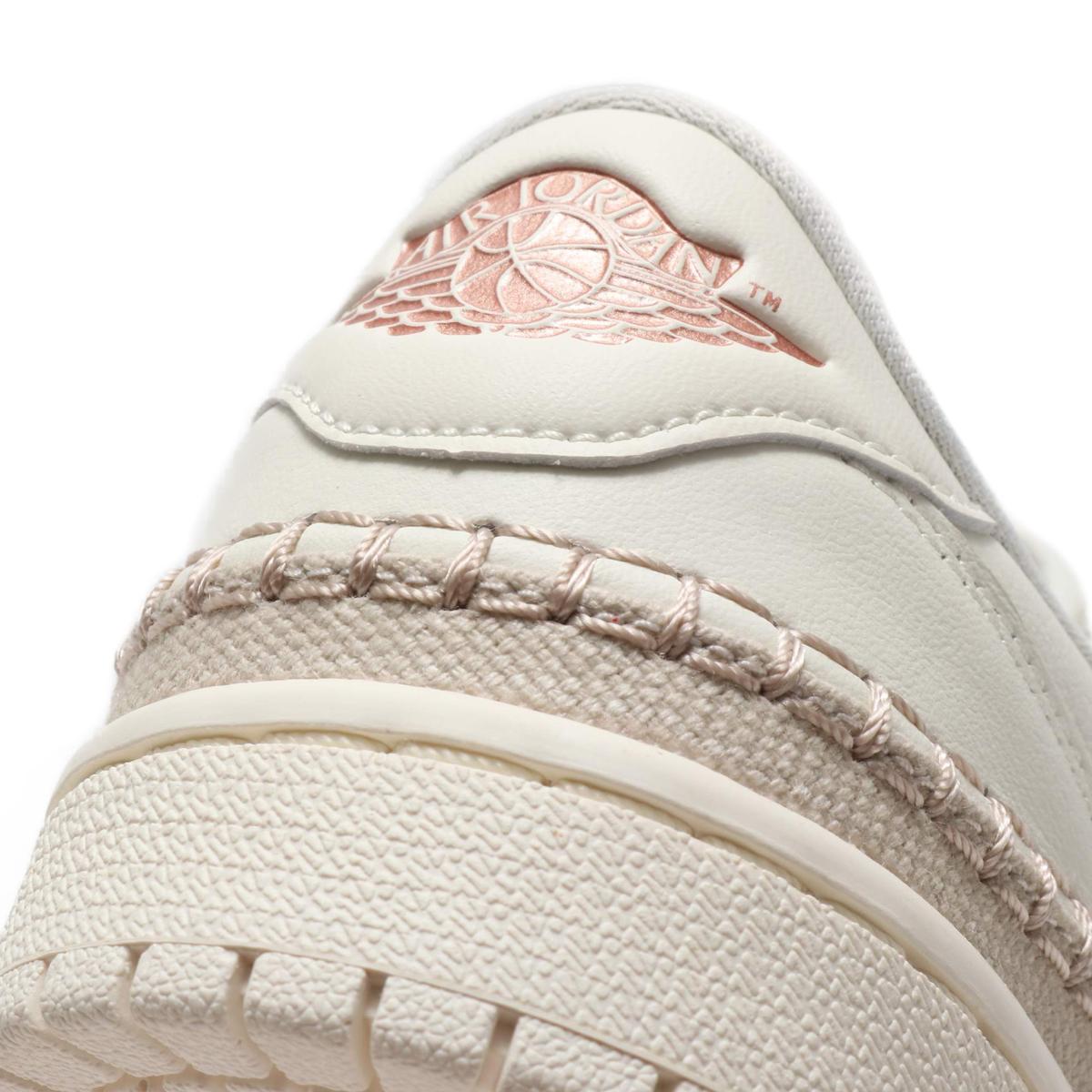 b2301387ac199a NIKE WMNS AIR JORDAN 1 RETRO LOW NS (Nike women Air Jordan 1 nostalgic low  NS) (SAIL MTLC RED BRONZE) 18SU-S