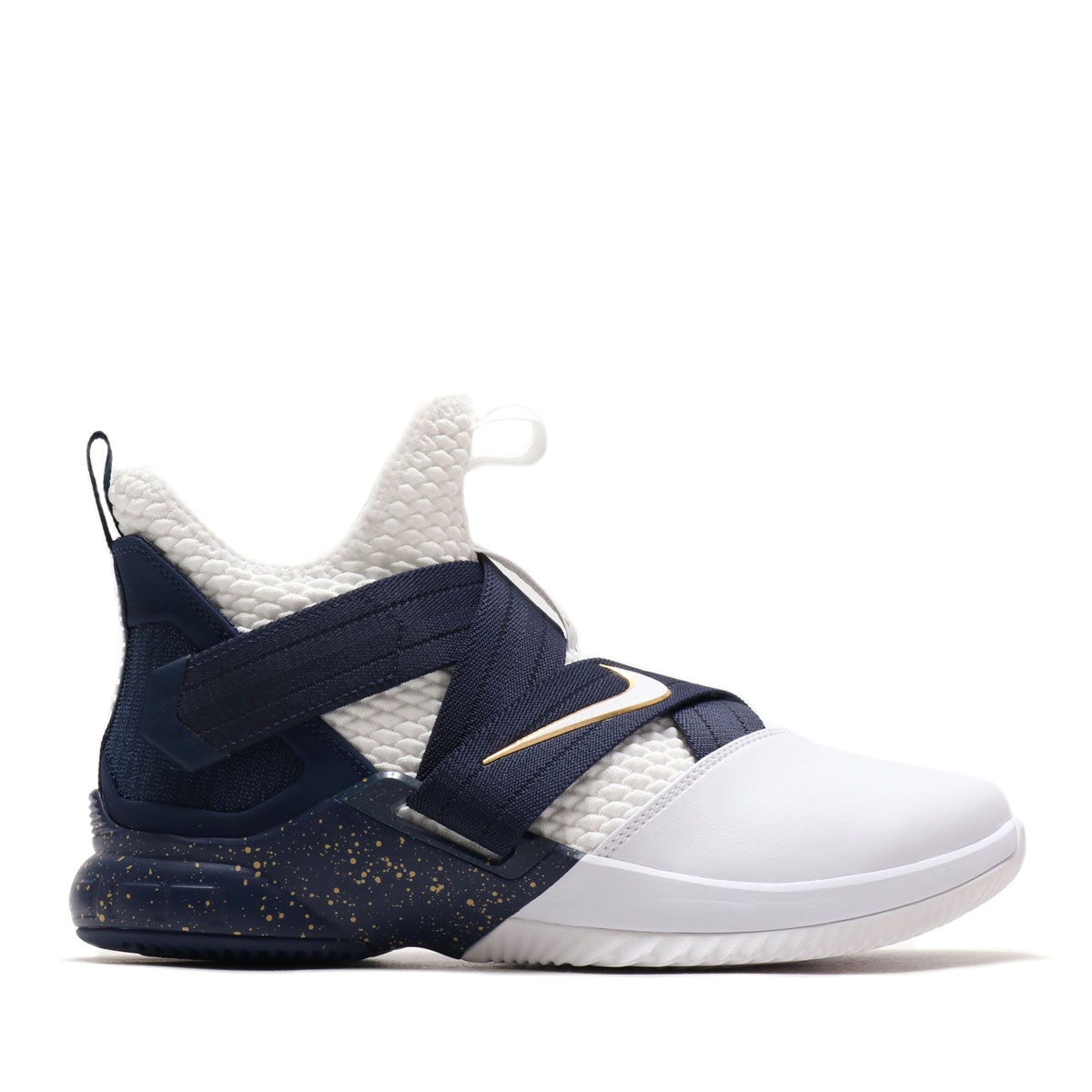 72d3ae828c17 NIKE LEBRON SOLDIER XII SFG EP (Nike Revlon soldier XII SFG EP) WHITE WHITE-MIDNIGHT  NAVY-MINERAL YELLOW 18SU-S