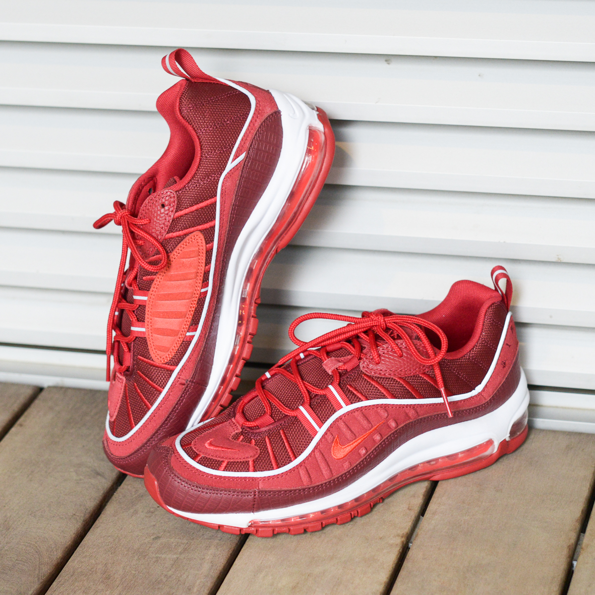 NIKE AIR MAX 98 SE (Kie Ney AMAX 98 SE) (TEAM RED HABANERO RED-GYM RED-WHITE)  18SU-S 950ad64c4