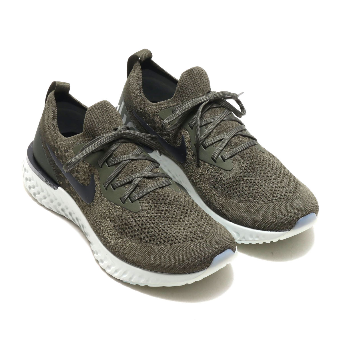 d7b73caedbac NIKE EPIC REACT FLYKNIT(ナイキ エピック リアクト リアクト リアクト フライニット)(CARGO KHAKI BLACK- SEQUOIA-LIGHT SILVER)18SU-S 6ef