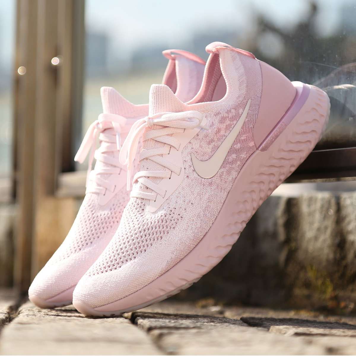 separation shoes 586ef 0d1da NIKE EPIC REACT FLYKNIT (Kie Ney pick re-act fly knit) (PEARL PINK PEARL  PINK-BARELY ROSE) 18SU-S