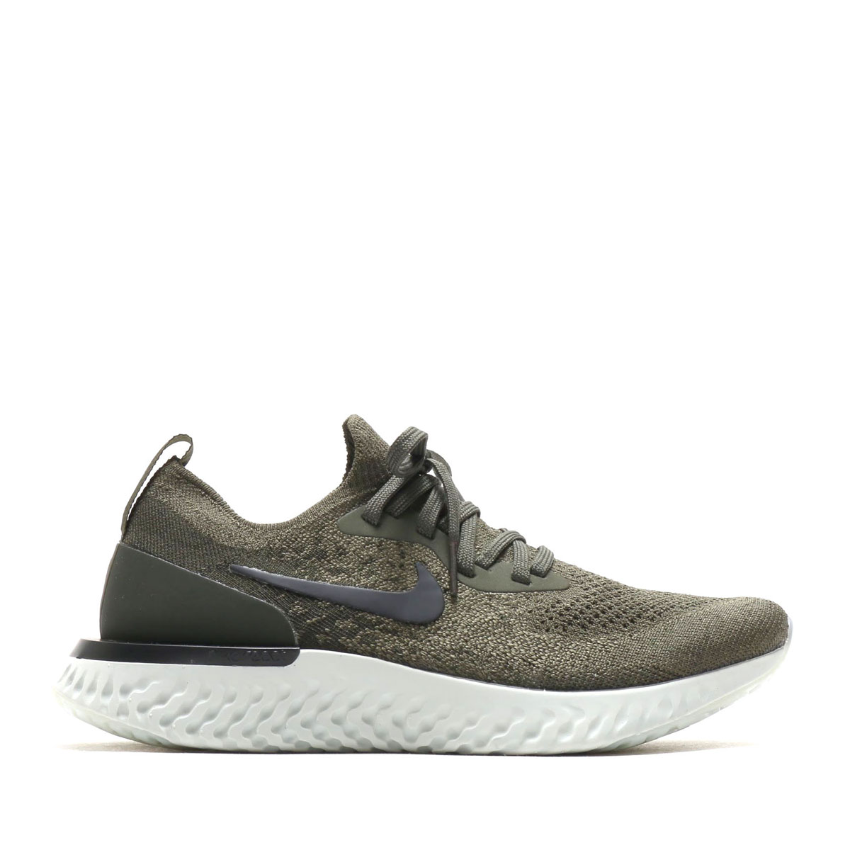 0d13c8e50651 NIKE WMNS EPIC REACT FLYKNIT (Nike women epic re-act fly knit) (CARGO KHAKI  BLACK-SEQUOIA-LIGHT SILVER) 18SU-S