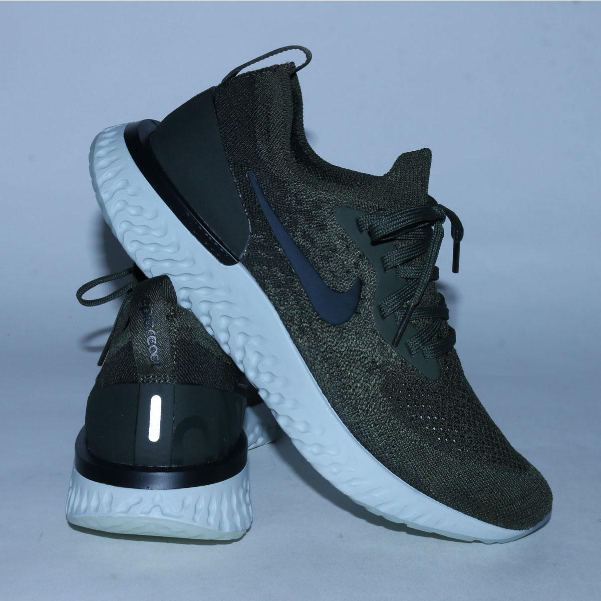 b98a107748b7 NIKE WMNS EPIC REACT FLYKNIT (Nike women epic re-act fly knit) (CARGO KHAKI  BLACK-SEQUOIA-LIGHT SILVER) 18SU-S