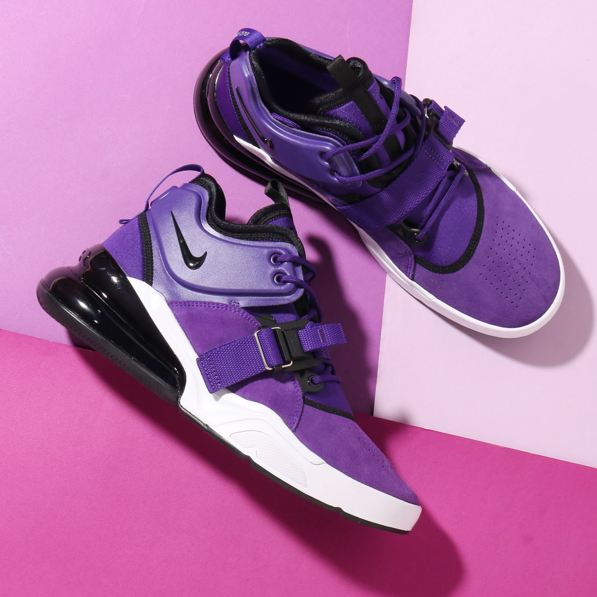 437d20c4afe90 NIKE AIR FORCE 270 QS PRPL (Nike air force 270 PRPL) (COURT PURPLE BLACK-WHITE)  18SU-S