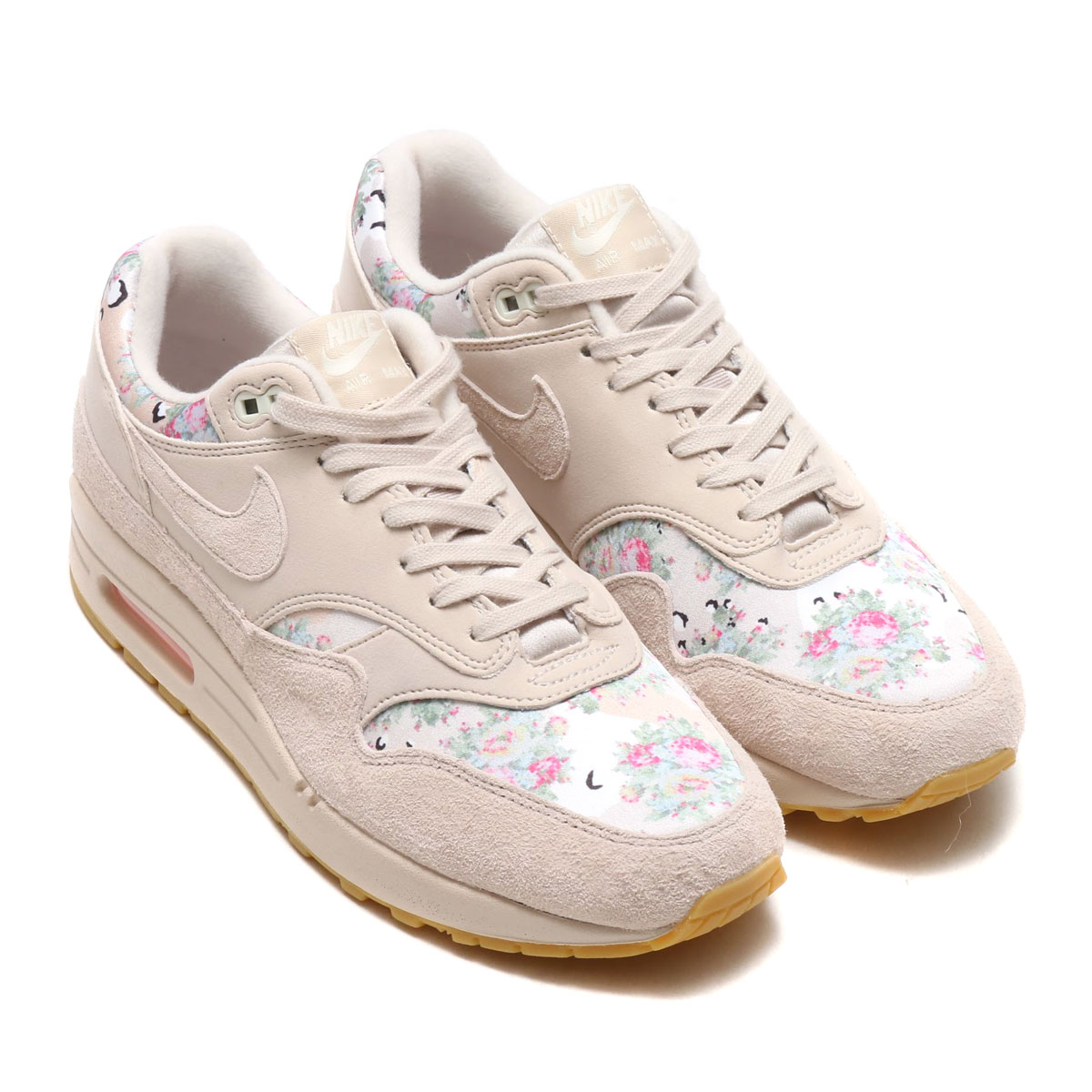 half off a2355 8e3fb NIKE WMNS AIR MAX 1 (Nike women Air Max 1) (DESERT SAND DESERT SAND-GUM  LIGHT BROWN) 18SU-S