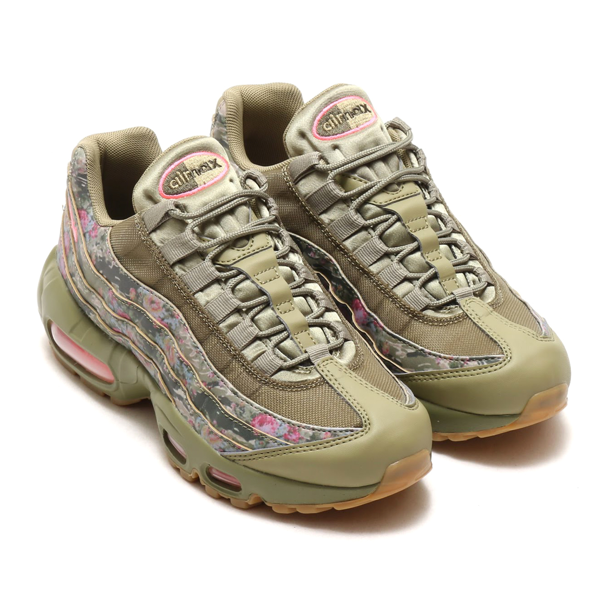 NIKE WMNS AIR MAX 95 (Nike women Air Max 95) (NEUTRAL OLIVE/ARCTIC PUNCH) 18SU-S