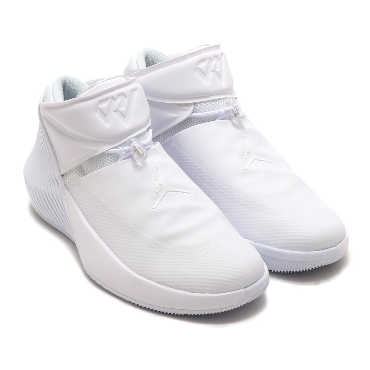 NIKE JORDAN WHY NOT ZER0.1 PFX (Nike Jordan why knot zero 1 PFX)  (WHITEWHITE-BLACK) 18SU-S