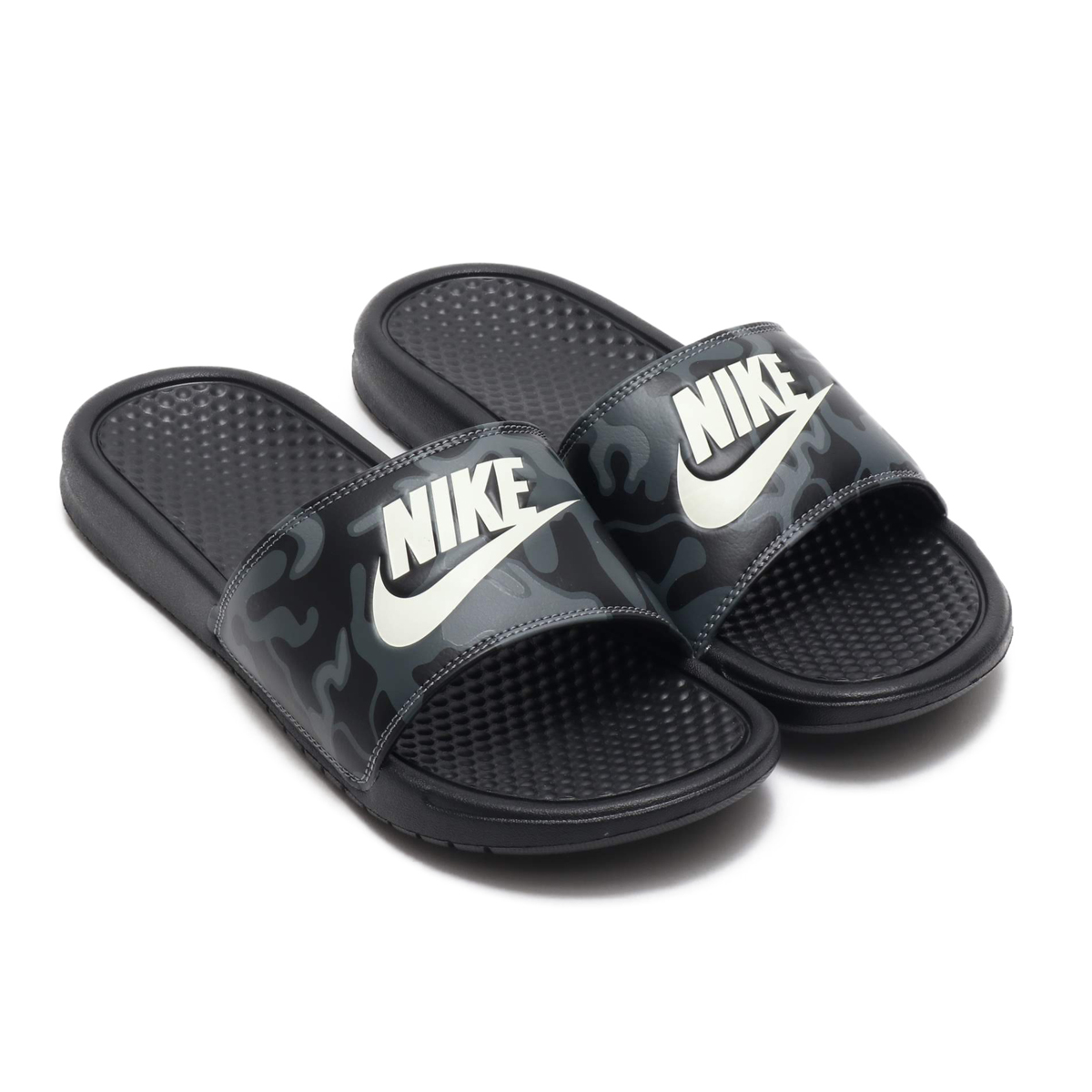 27b26613826b0e NIKE BENASSI JDI PRINT (ナイキベナッシ JDI print) BLACK SUMMIT WHITE 18FA-S