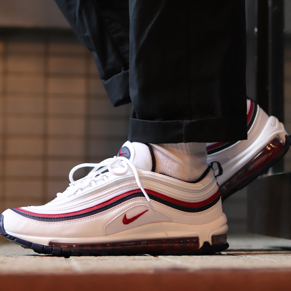 nike air max 97 white and red