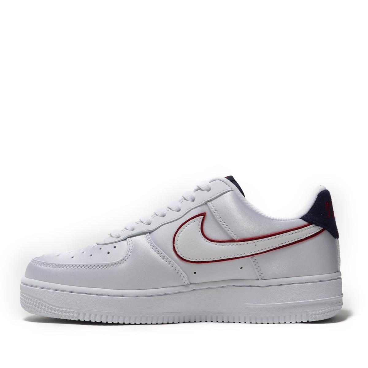 NIKE WMNS AIR FORCE 1  07 SE (Nike women air force 1 07 SE)  WHITE WHITE-BLACKENED BLUE 18FA-I 87fa803f6