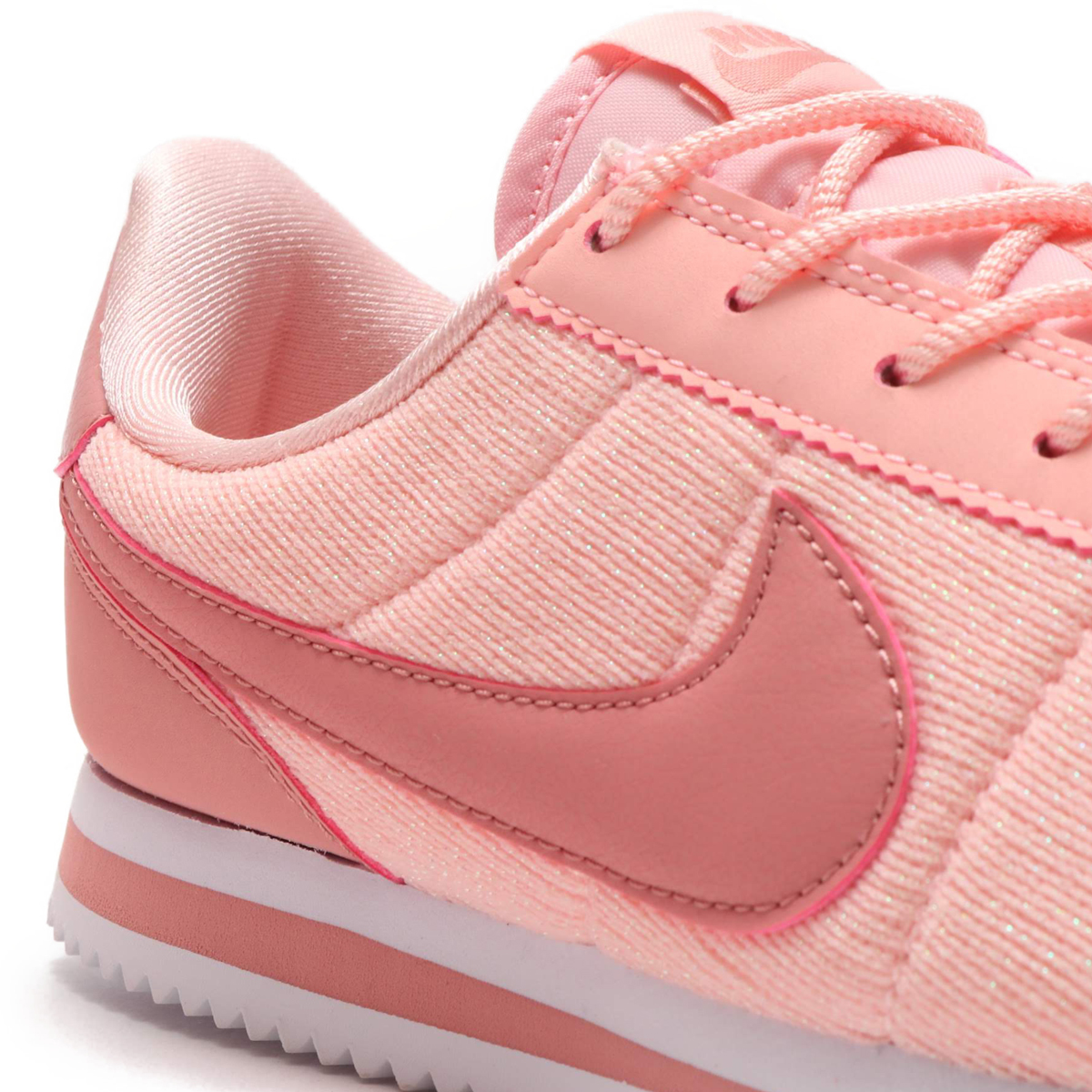 official photos 2a498 93073 NIKE CORTEZ BASIC TXT SE (GS) (ナイキコルテッツベーシックテキスタイル SE GS) STORM PINK RUST  PINK-WHITE 18FA-S