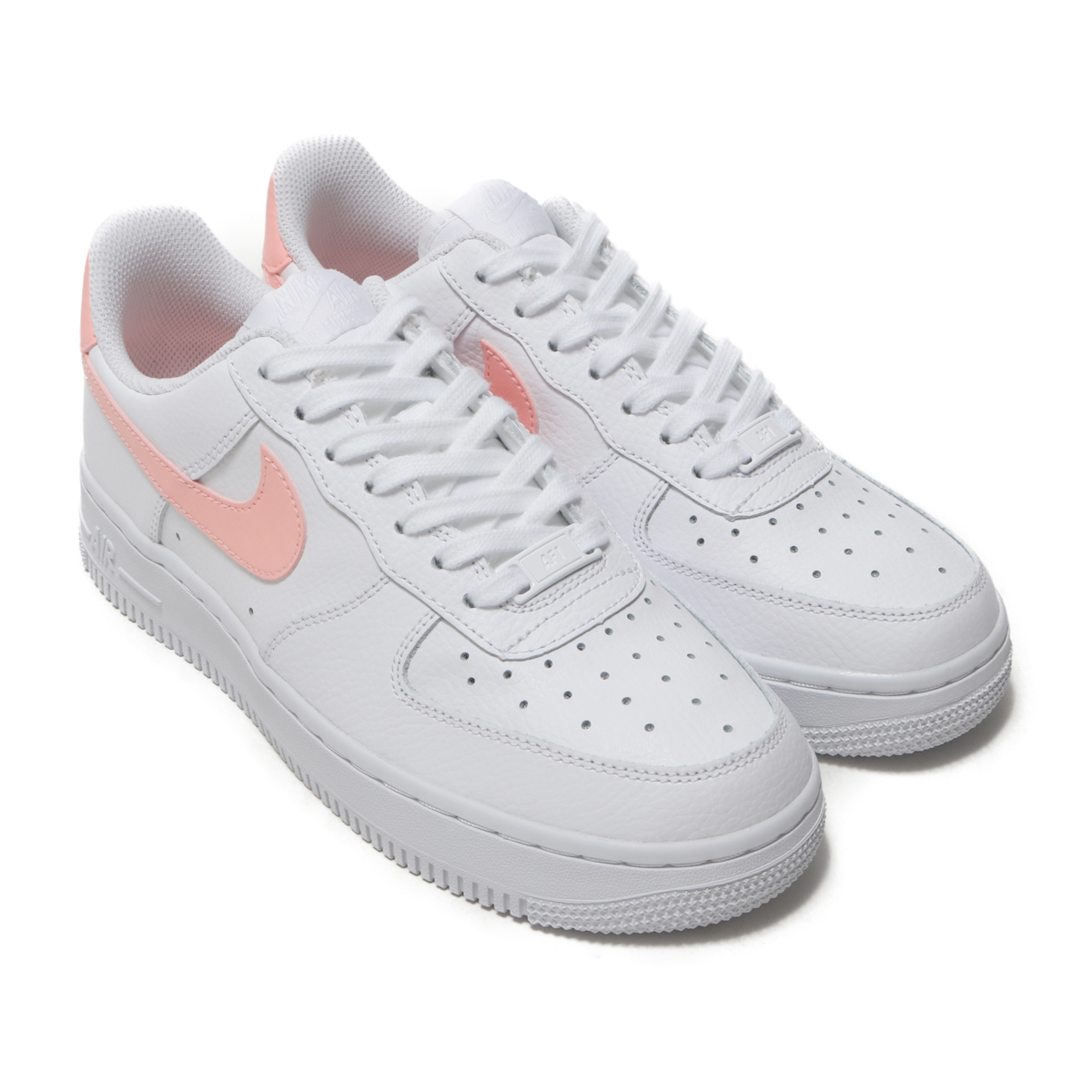 low priced e7dbd 211a9 ... Pink Gum Med NIKE WMNS AIR FORCE 1 07 (Nike women air force 1 07) WHITE  ORACLE ...