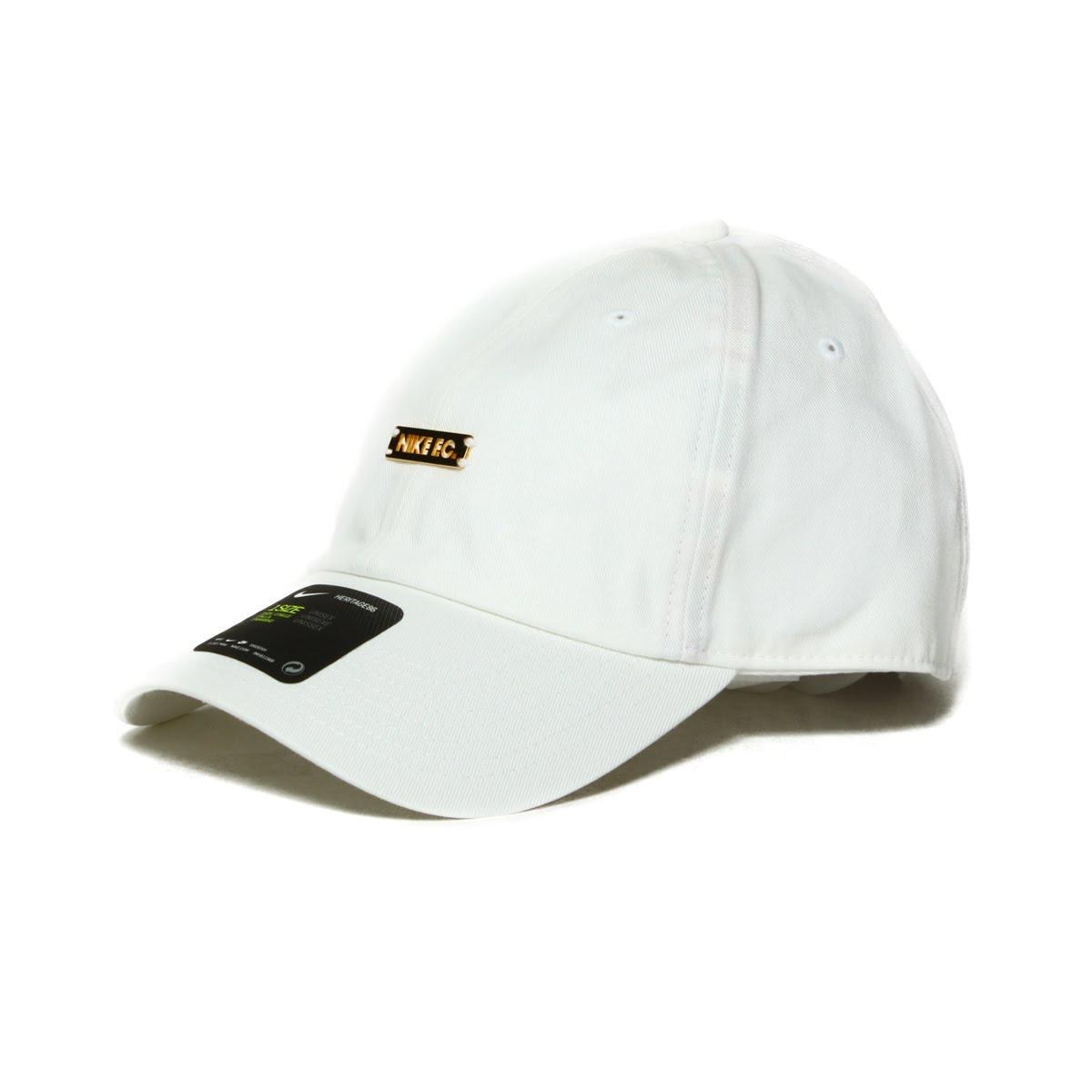 NIKE U NK FC H86 CAP ADJ (Nike FC H86 ADJ cap) WHITE METALLIC GOLD 18SS-I 007c5bfc541