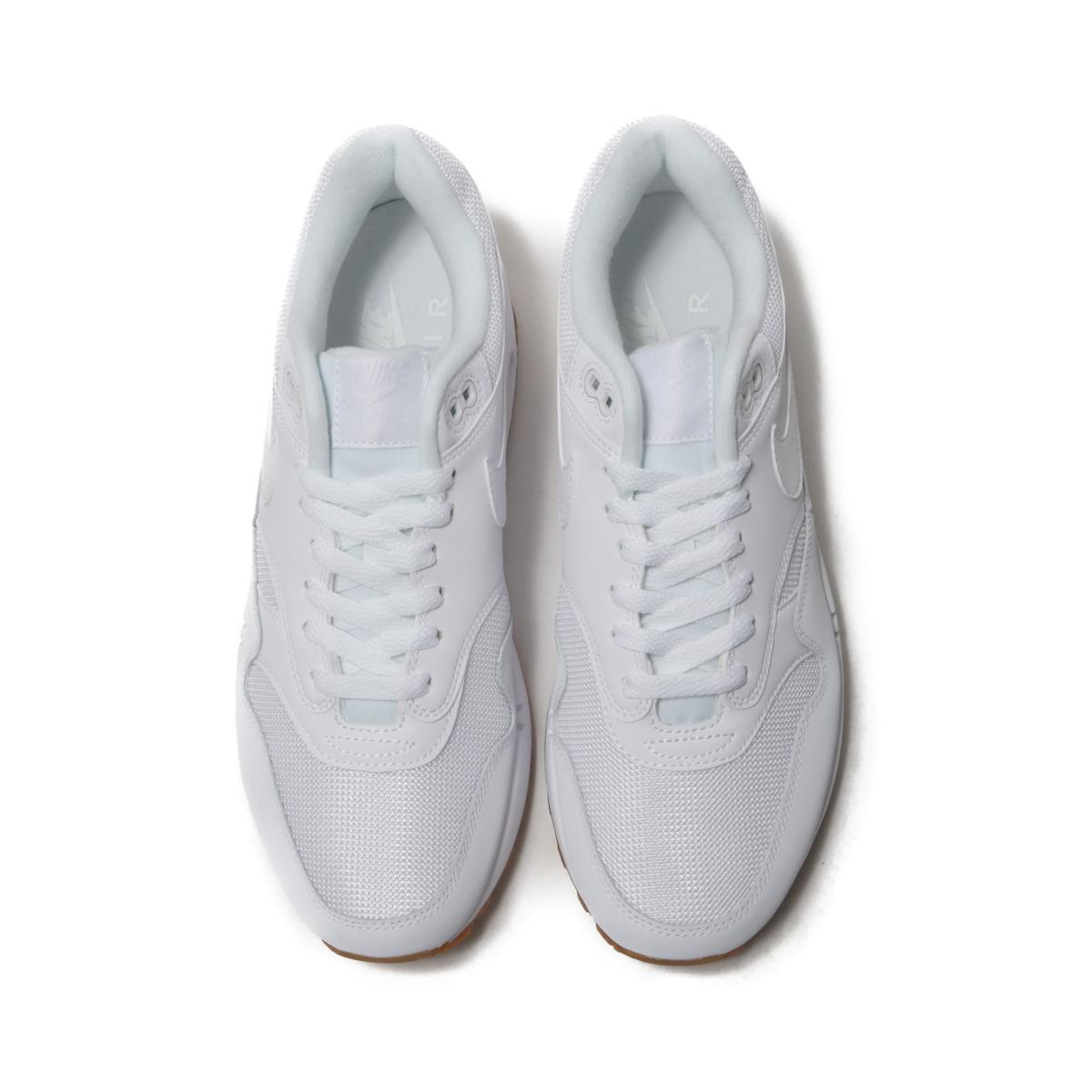 first rate 9e34e 8e91a NIKE AIR MAX 1 (Kie Ney AMAX 1) WHITE WHITE-WHITE-GUM MED BROWN 18FA-I