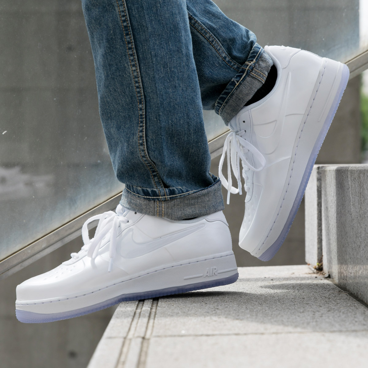 7ed80376e6c97 NIKE AF1 FOAMPOSITE PRO CUP (Nike AF1 フォームポジットプロカップ) (WHITE WHITE-WHITE)  18SU-S