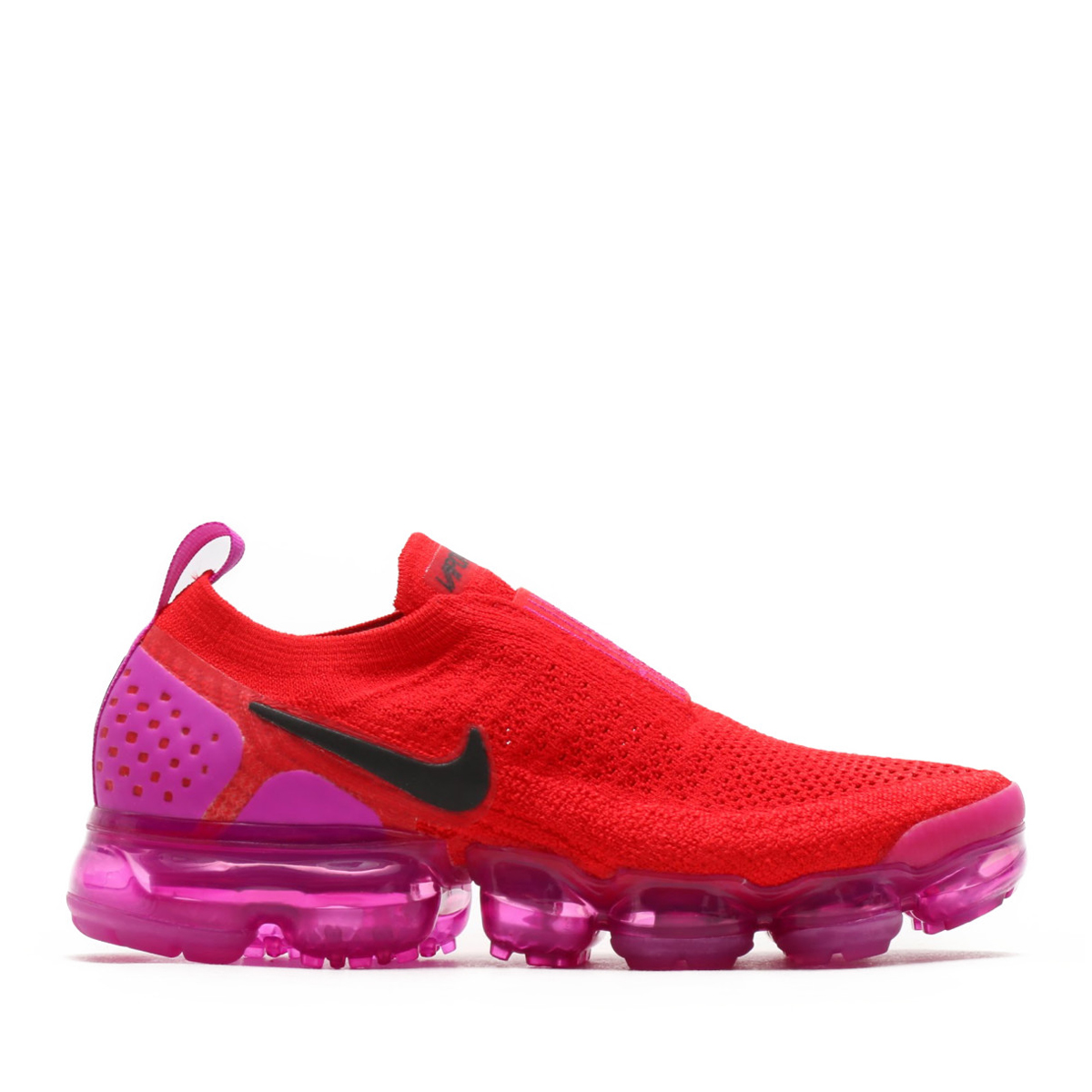 51a2cf11076 NIKE WMNS AIR VAPORMAX FK MOC 2 (Nike women air vapor max fried food knit  mock 2) UNIVERSITY RED BLACK-FUCHSIA BLAST 18SU-S