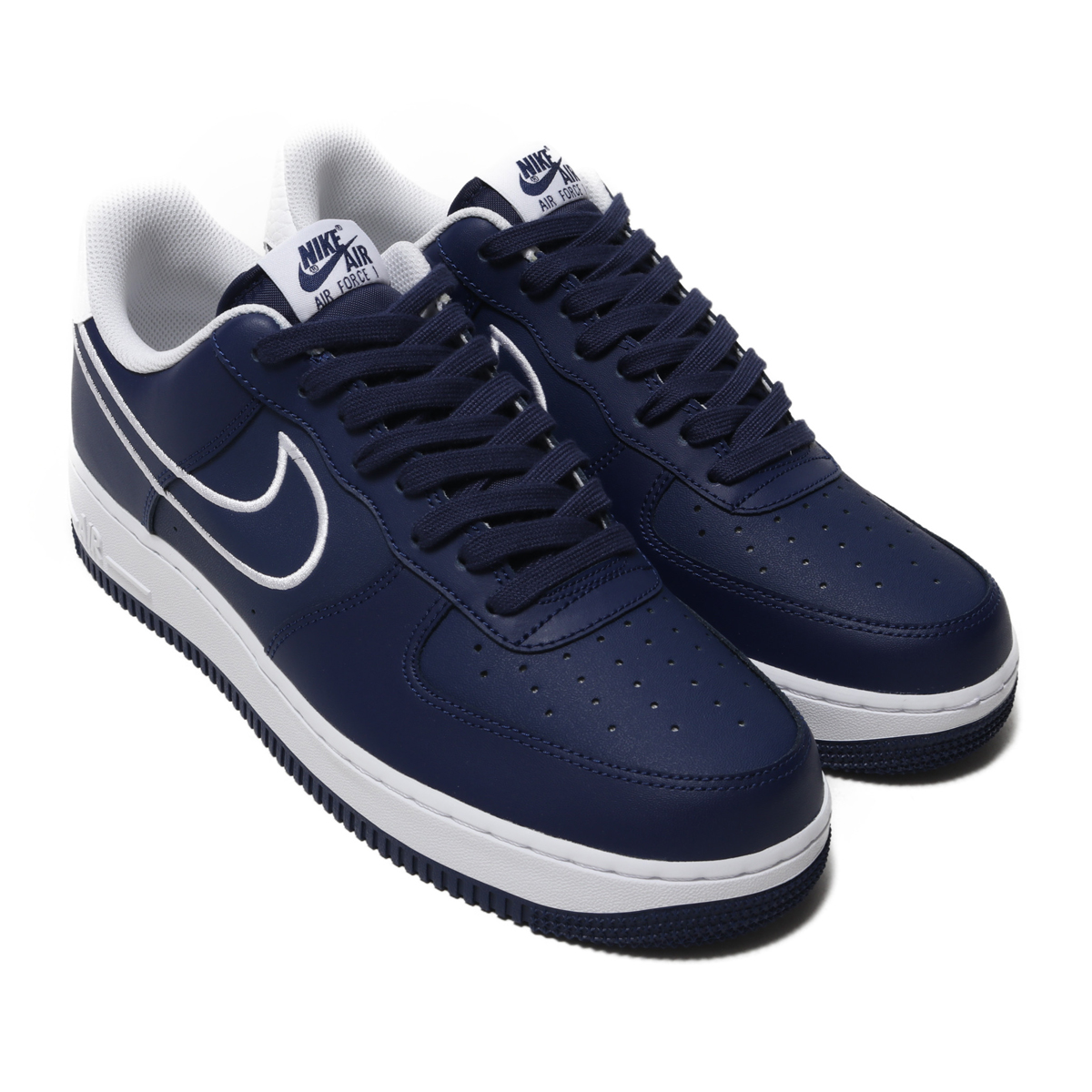 NIKE AIR FORCE 1 '07 LTHR (Nike air force 1 07 LTHR) BLUE VOID/WHITE 18FA-I