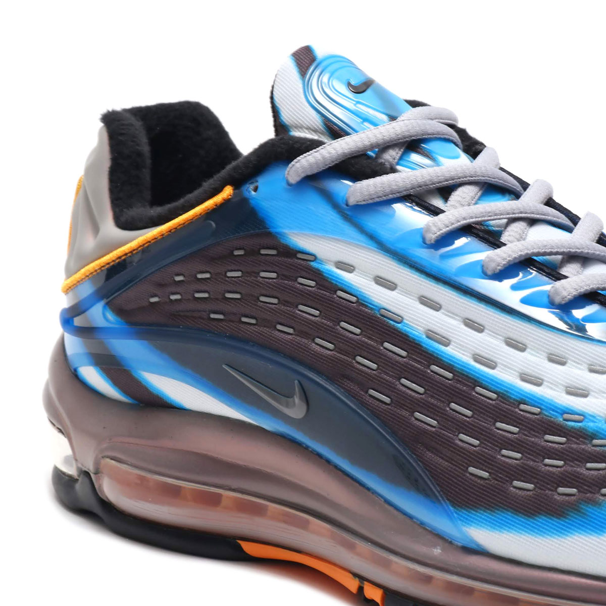 new styles ca9ac db622 ... NIKE AIR MAX DELUXE (Kie Ney AMAX deluxe) PHOTO BLUE WOLF GREY- ...