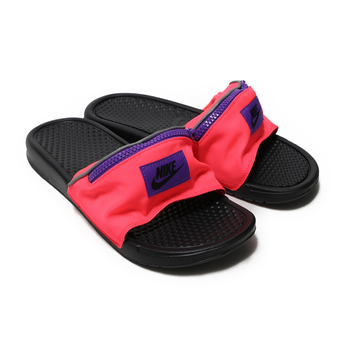 4561093a578e NIKE BENASSI JDI FANNY PACK (ナイキベナッシ JDI Fannie pack) HYPER PUNCH BLACK- HYPER GRAPE 18FW-I