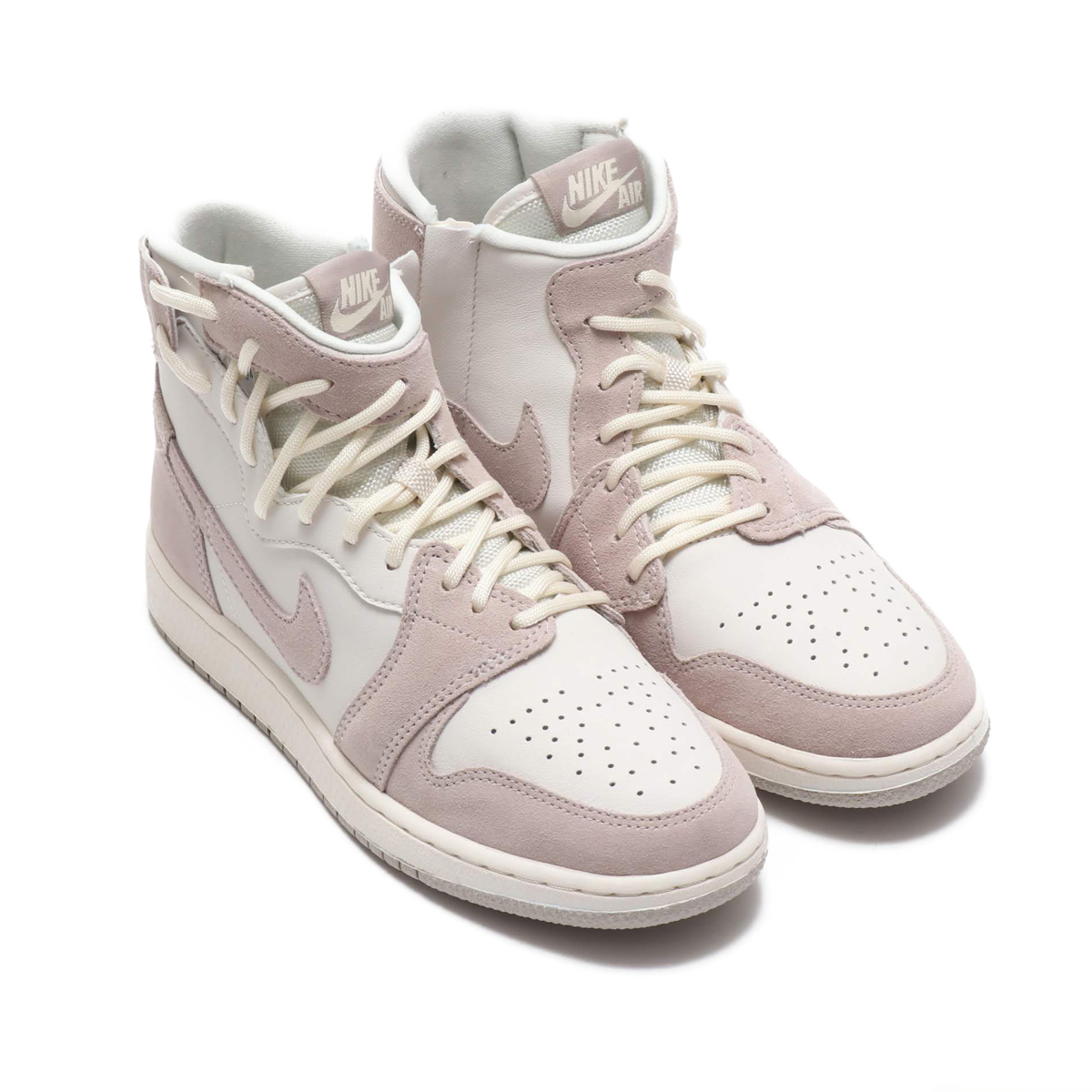 half off 13697 6d06d NIKE WMNS AIR JORDAN 1 REBEL XX (Nike women Air Jordan 1 REBEL XX) MOON  PARTICLE MOON PARTICLE-PHANTOM 18FA-S