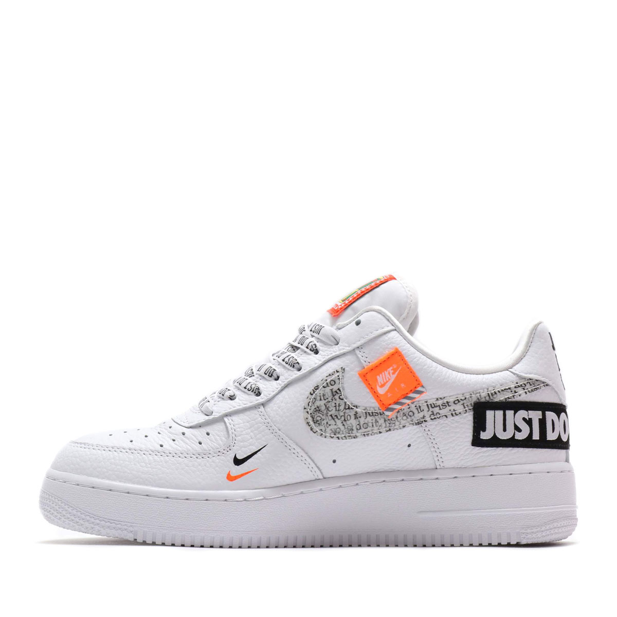 huge selection of 66a87 c92e5 NIKE AIR FORCE 1  07 PRM JDI (Nike air force 1 07 premium JDI)  WHITE WHITE-BLACK-TOTAL ORANGE 18FA-S