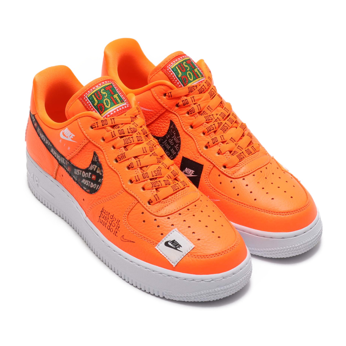 25bfd18d4a38 NIKE AIR FORCE 1  07 PRM JDI (Nike air force 1 07 premium JDI) TOTAL ORANGE TOTAL  ORANGE-BLACK-WHITE 18FA-S
