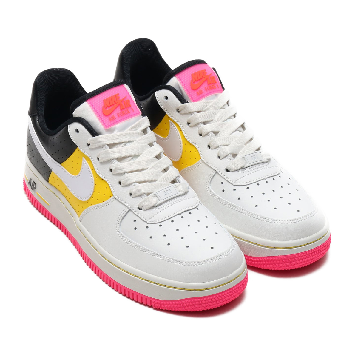 18ebc6a046a NIKE W AIR FORCE 1  07 SE MOTO (Nike women air force 1 07 SE MOTO) (SUMMIT  WHITE WHITE-TOUR YELLOW-BLACK) 18SU-S