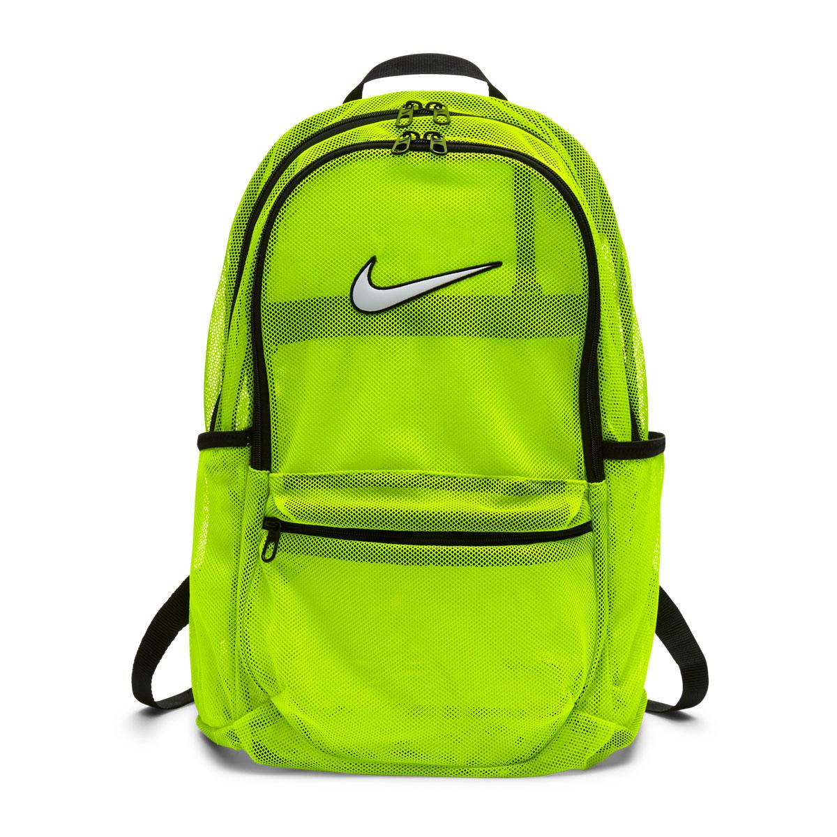 4b48d9d523 NIKE NK BRSLA MESH BKPK (Nike Brasilia mesh backpack) VOLT BLACK WHITE  18FA-I