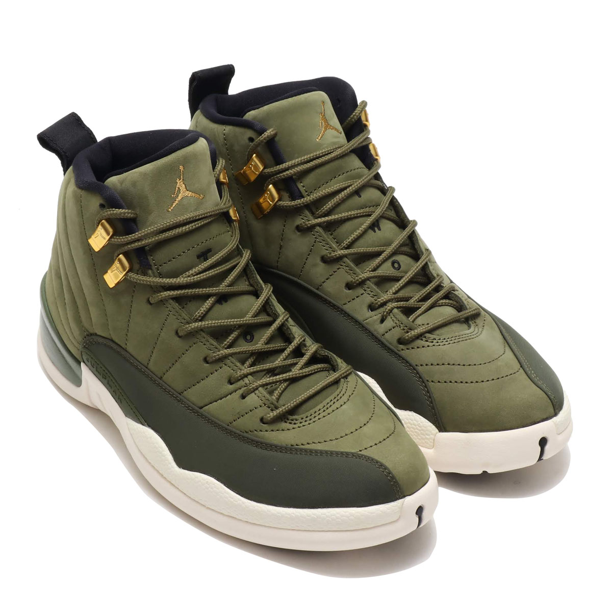 NIKE AIR JORDAN 12 RETRO(ナイキ エア ジョーダン 12 レトロ)(OLIVE CANVAS/METALLIC GOLD-BLACK-SAIL)18FA-S