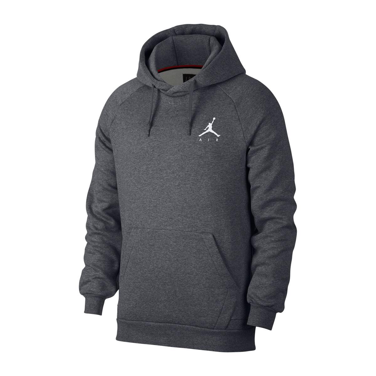 fe47b922929b87 The Jordan sportswear jump man fleece men pullover blocks cold stylishly.  Using a tender raised fleece material