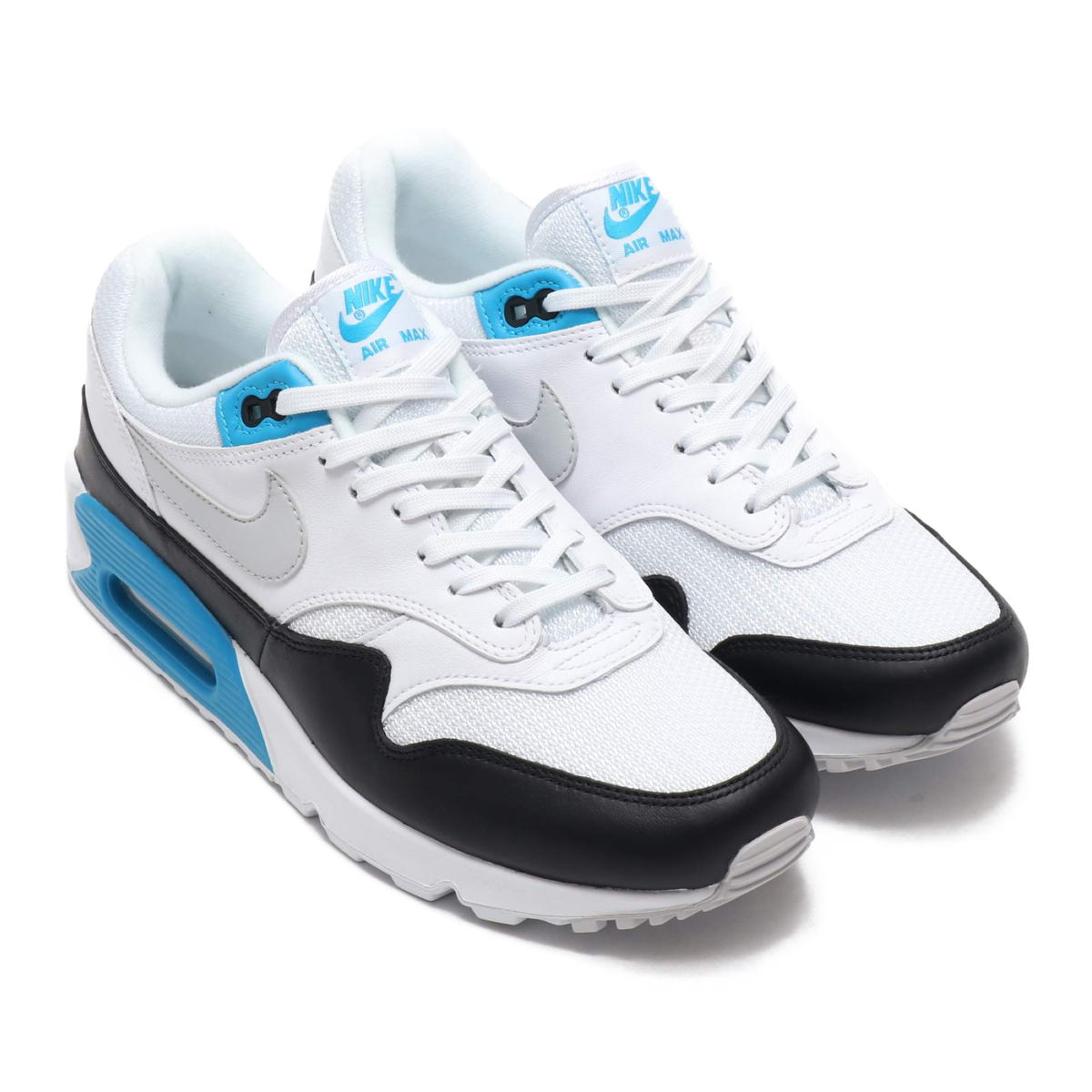 NIKE AIR MAX 90 1 (Kie Ney AMAX 90 1) (WHITE NEUTRAL GREY-BLACK-LASER BLUE)  18FA-S 1f7ef7f1c