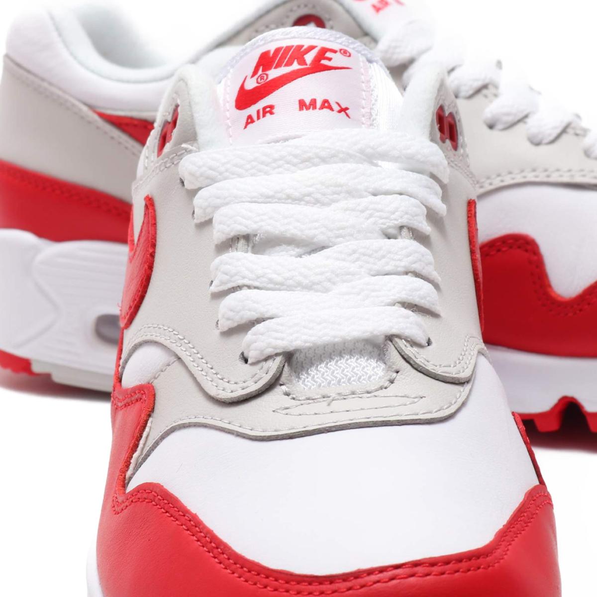 official photos 9530d 01b0d NIKE W AIR MAX 90 1 (Nike women Air Max 90 1) WHITE UNIVERSITY RED-NEUTRAL  GREY-BLACK 18FA-S