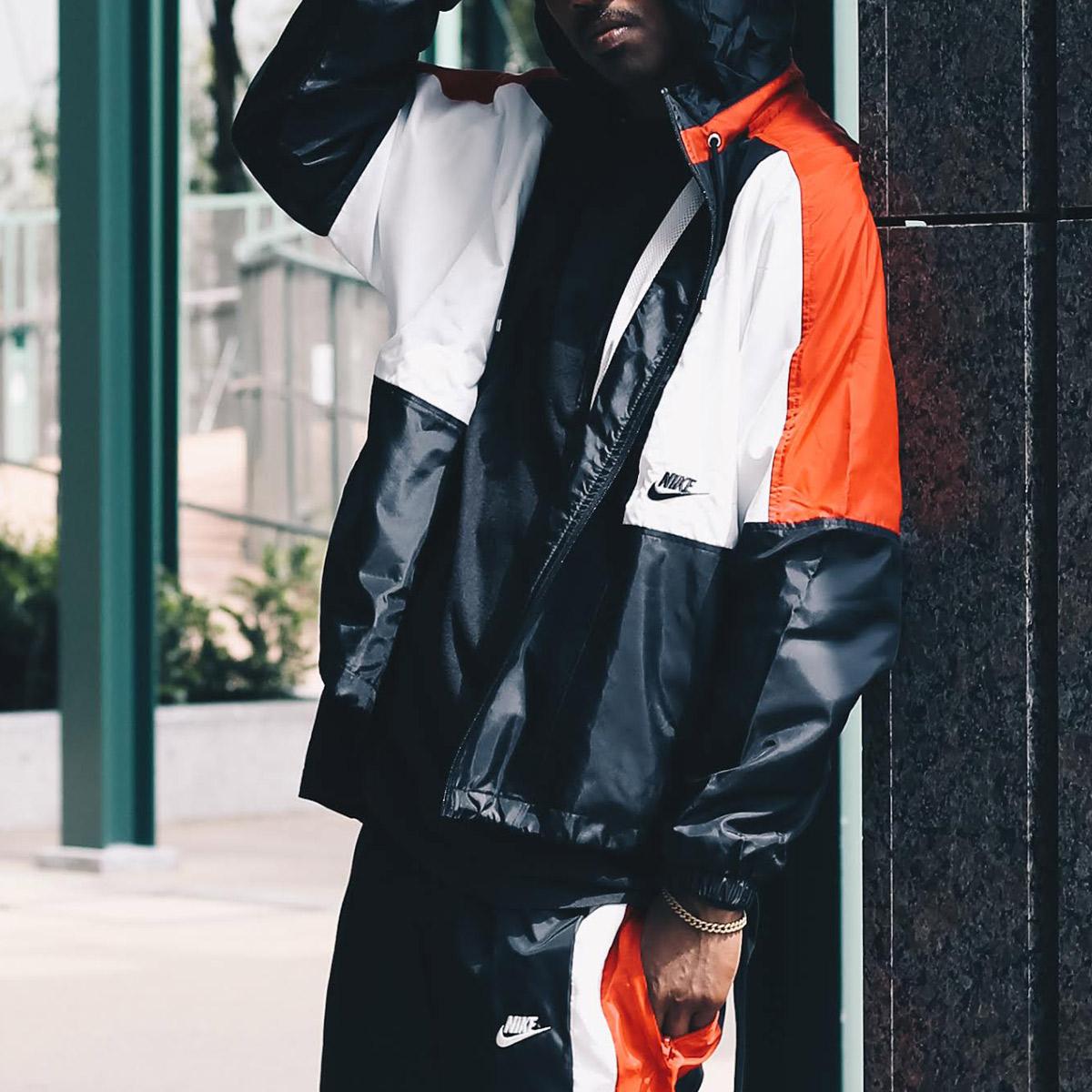 NIKE AS M NSW RE-ISSUE JKT WVN(ナイキ リ イシュー ウーブン ジャケット)BLACK/UNIVERSITY RED/SUMMIT WHITE/BLACK【メンズ ジャケット】18HO-S
