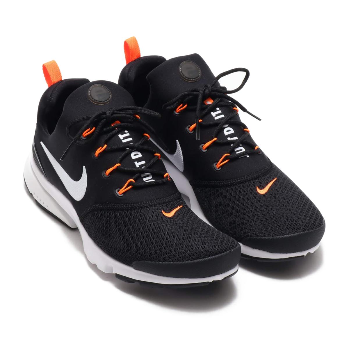 8806d431ce23 NIKE PRESTO FLY JDI (Nike presto fly JDI) BLACK WHITE-TOTAL ORANGE 18FA-S