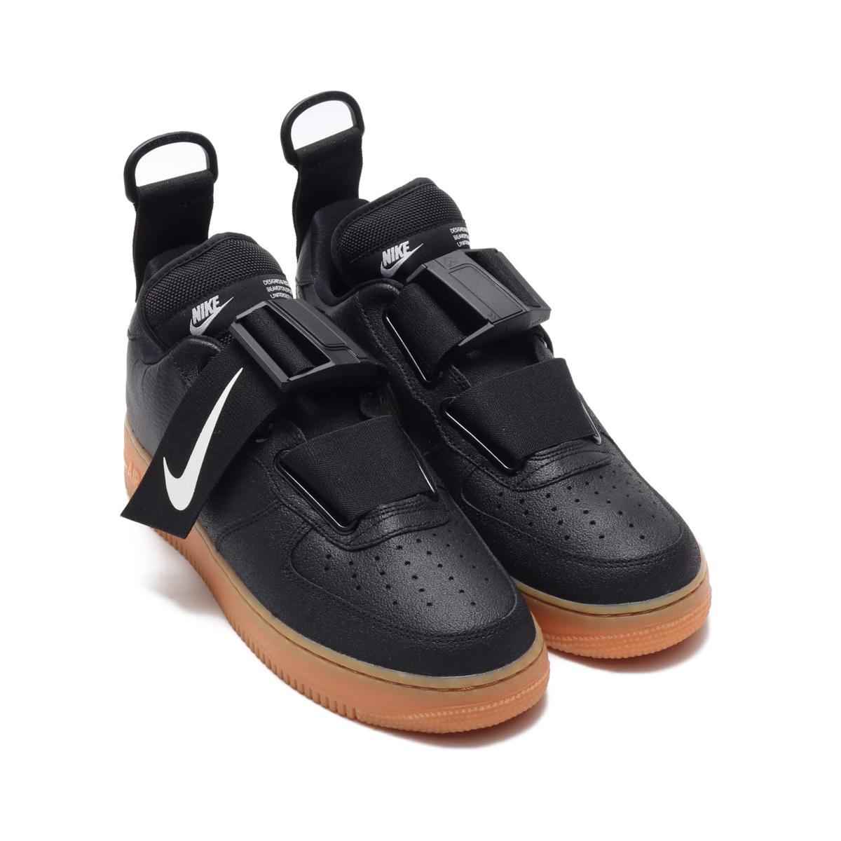 free shipping 1722b 438a4 NIKE AIR FORCE 1 UTILITY (Nike air force 1 utility) BLACKWHITE-GUM MED  BROWN 18HO-S