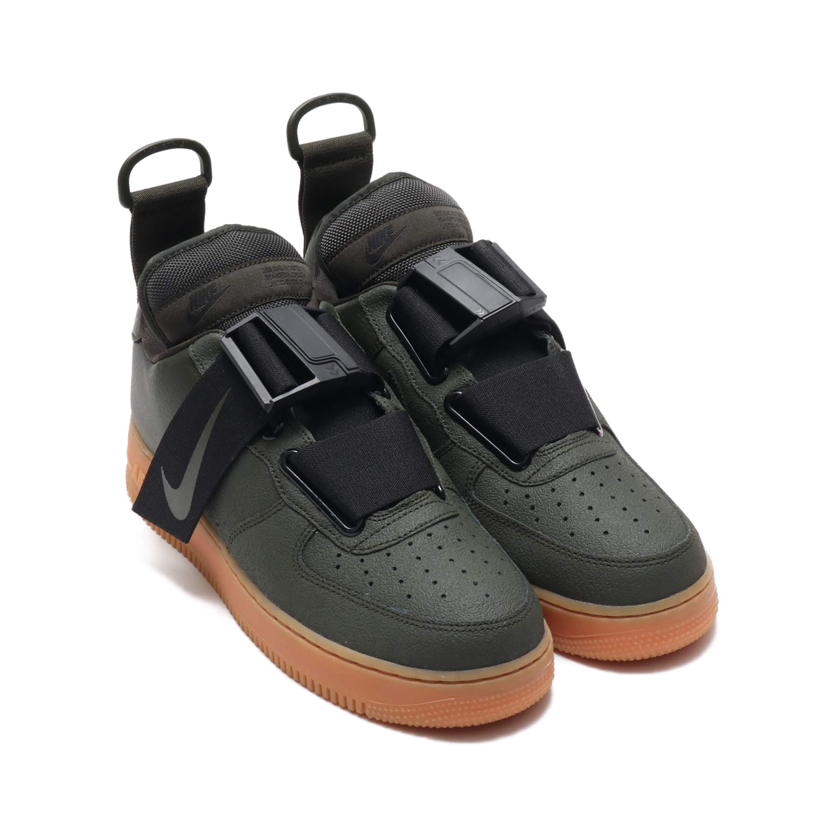 0970a38ff9ddae NIKE AIR FORCE 1 UTILITY (Nike air force 1 utility) SEQUOIA BLACK-GUM MED  BROWN 18HO-S
