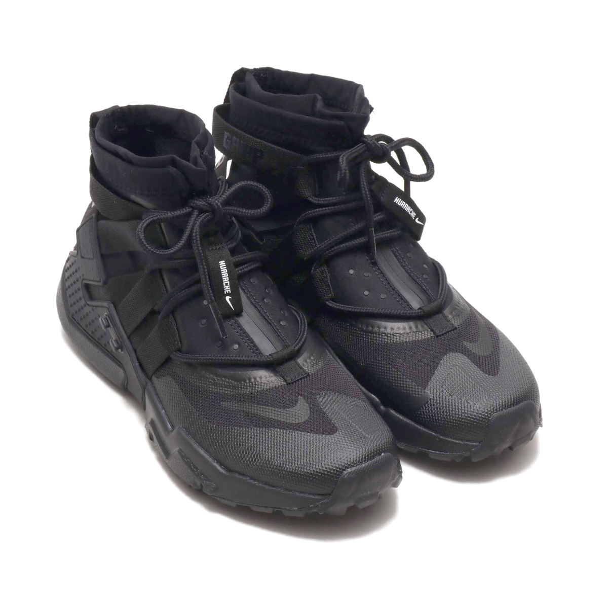 NIKE AIR HUARACHE GRIPP (ナイキ エア ハラチ グリップ)BLACK/BLACK-BLACK-WHITE【メンズ レディース スニーカー】18HO-I