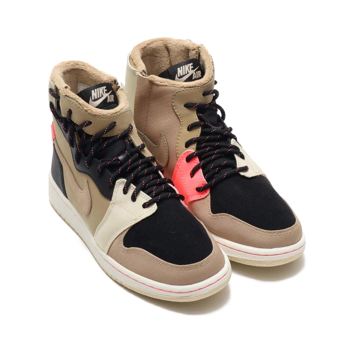 bf5035969d5a NIKE W AIR JORDAN 1 REBEL XX UT PK (Nike women Air Jordan 1 REBEL XX UT PK)  PARACHUTE BEIGE PARACHUTE BEIGE-BLACK 18HO-I