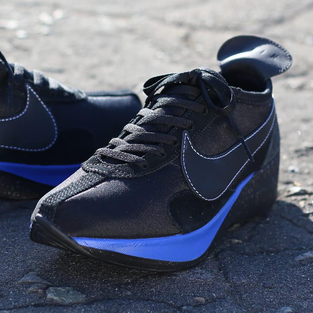 0c2aa112133e NIKE MOON RACER QS (Nike moon racer QS) (BLACK BLACK-WHITE-RACER BLUE)  18HO-I
