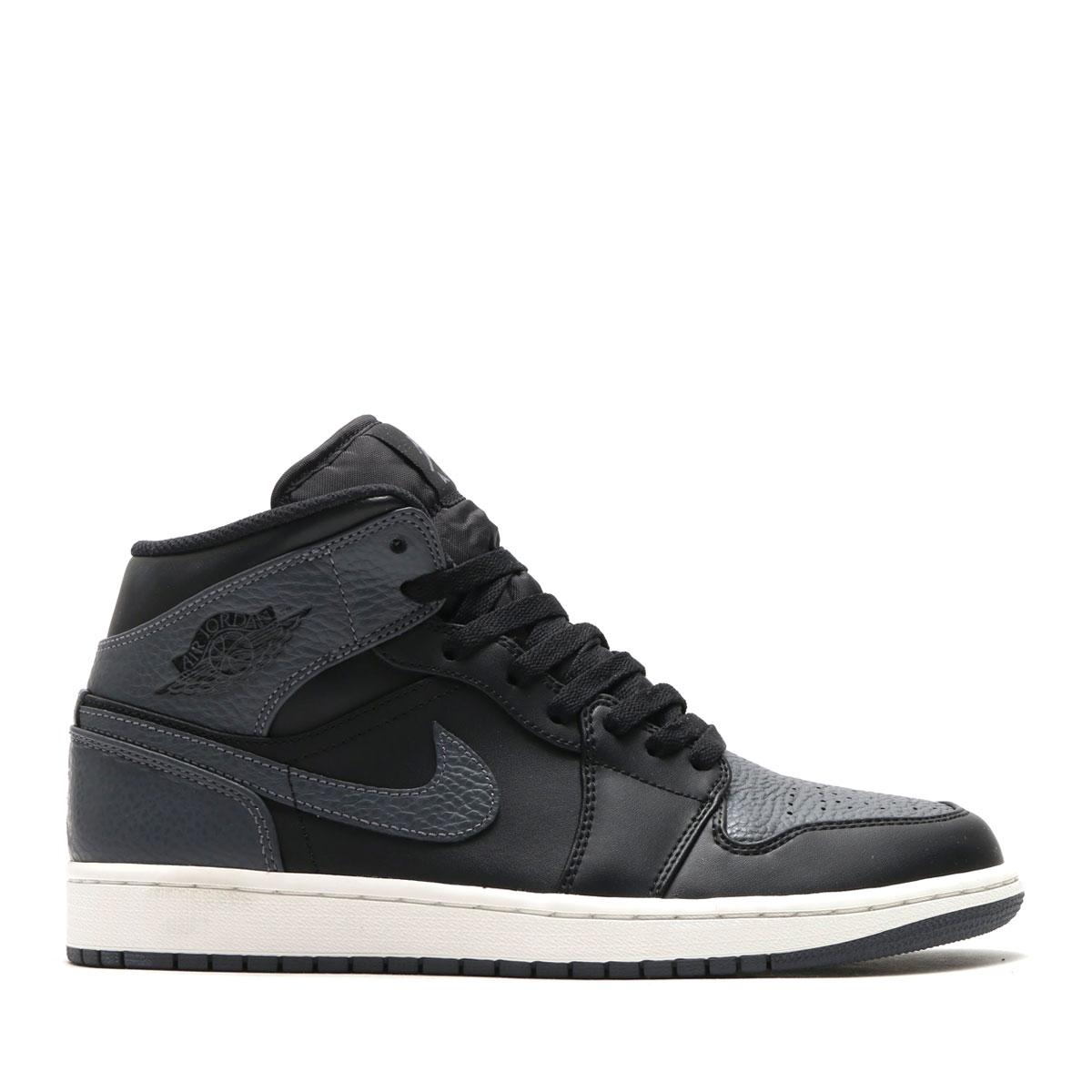 95d780cee00 NIKE AIR JORDAN 1 MID (Nike Air Jordan 1 mid) BLACK DARK GREY-SUMMIT WHITE  18SP-I